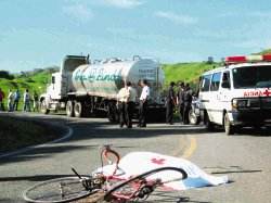 Muchos de los accidentes en bicicleta se producen en las zonas