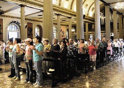 horario de misas en catedral: